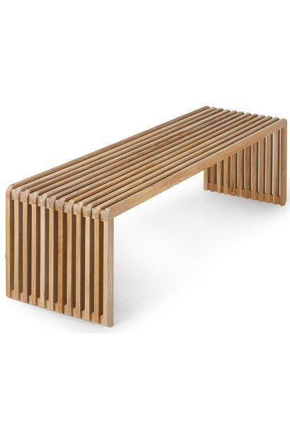 Bank slatted bench teak