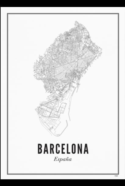 Poster Barcelona - City Barcelona - A4 / 21X30cm