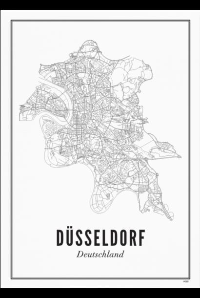 Poster Dusseldorf - City Dusseldorf - A4 / 21X30cm