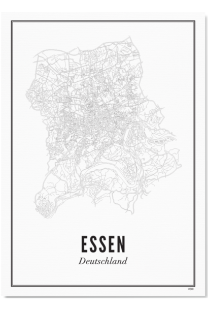 Poster Essen - City Essen - A4 / 21X30cm