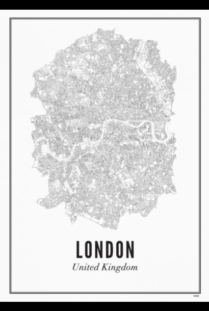 Poster London - City London - A4 / 21X30cm