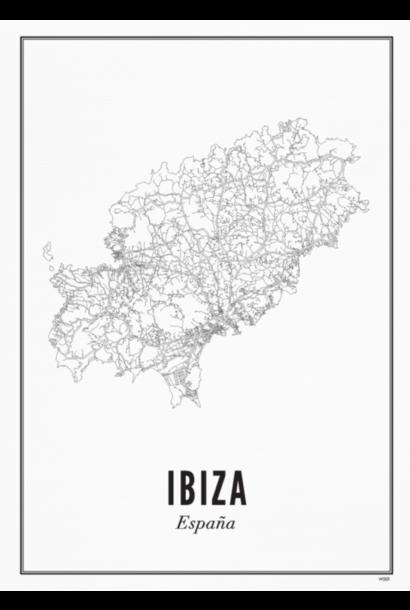 Poster Ibiza - Island Ibiza - A4 / 21X30cm
