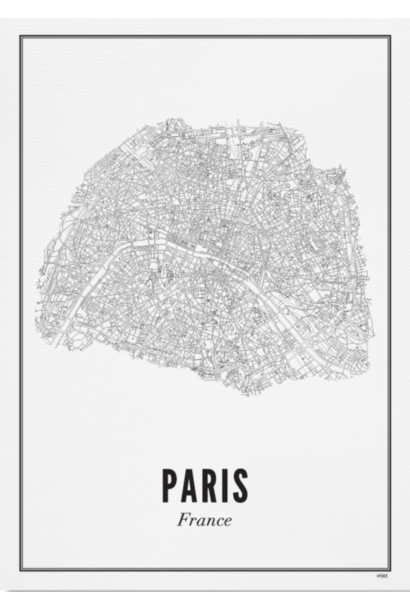 Poster Paris - City Paris - A4 / 21X30cm