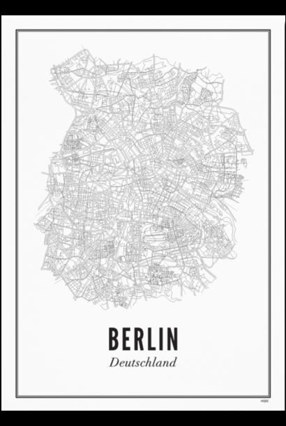 Poster Berlin - City Berlin - A4 / 21X30cm