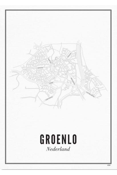 Poster Groenlo - City Groenlo - A4 / 21X30cm
