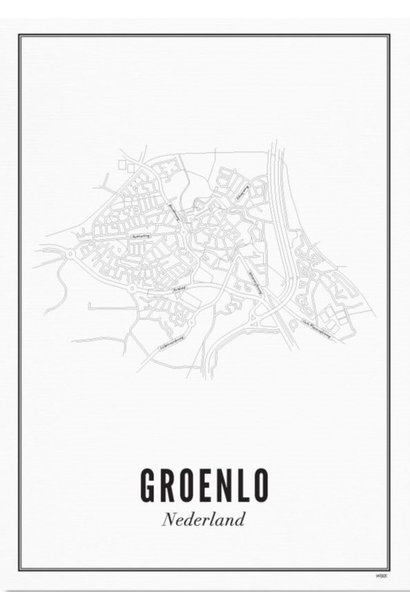 Poster Groenlo - City Groenlo - A3 / 30X40cm