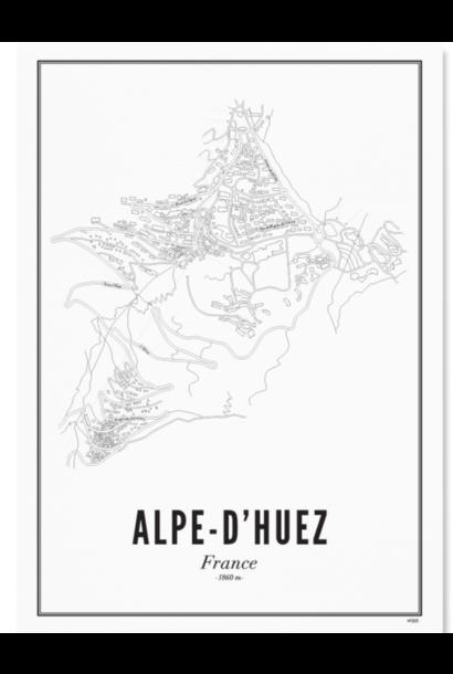 Poster Alpe d'huez - A4 / 21x30cm