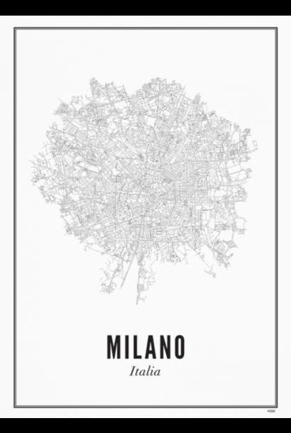 Poster Milano - City Milano - A4 / 21X30cm