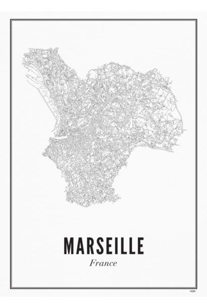 Poster Marseille - City Marseille - A4 / 21X30cm
