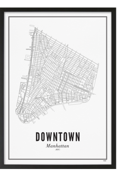 Poster New York - Downtown - A4 / 21X30cm