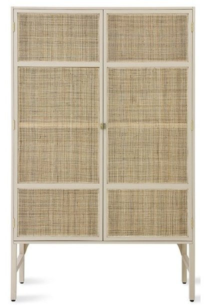 Kast retro webbing cabinet with shelves sand