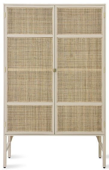 Kast retro webbing cabinet with shelves sand-1