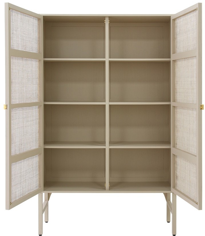 Kast retro webbing cabinet with shelves sand-2