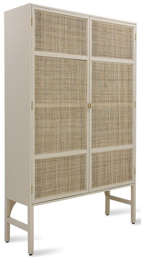 Kast retro webbing cabinet with shelves sand-4