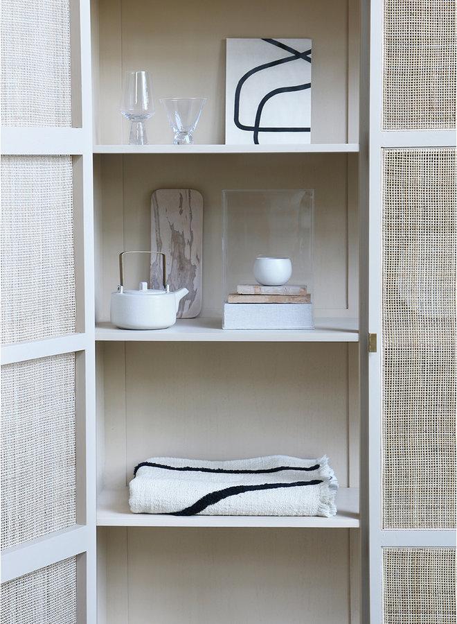 Kabinetkast retro webbing cabinet with shelves sand
