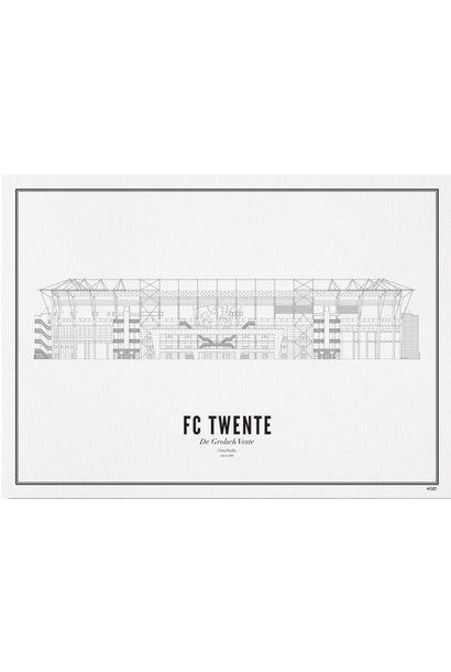 Poster Enschede- FC Twente- A4 / 21X30cm