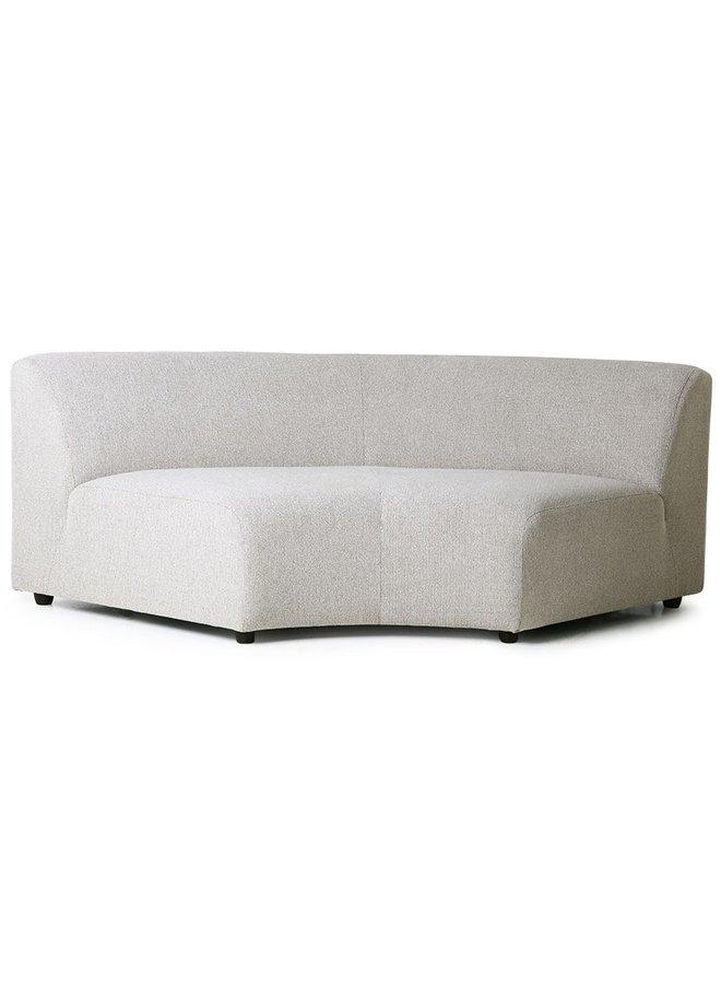Bank jax couch: element round, sneak, light grey