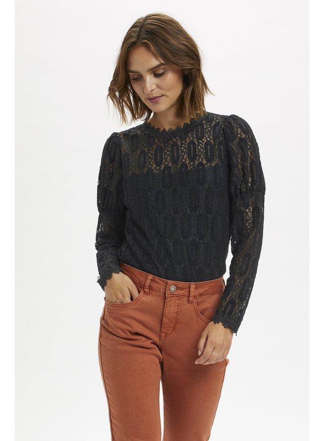 Top ViviCR LS t-shirt pitch black
