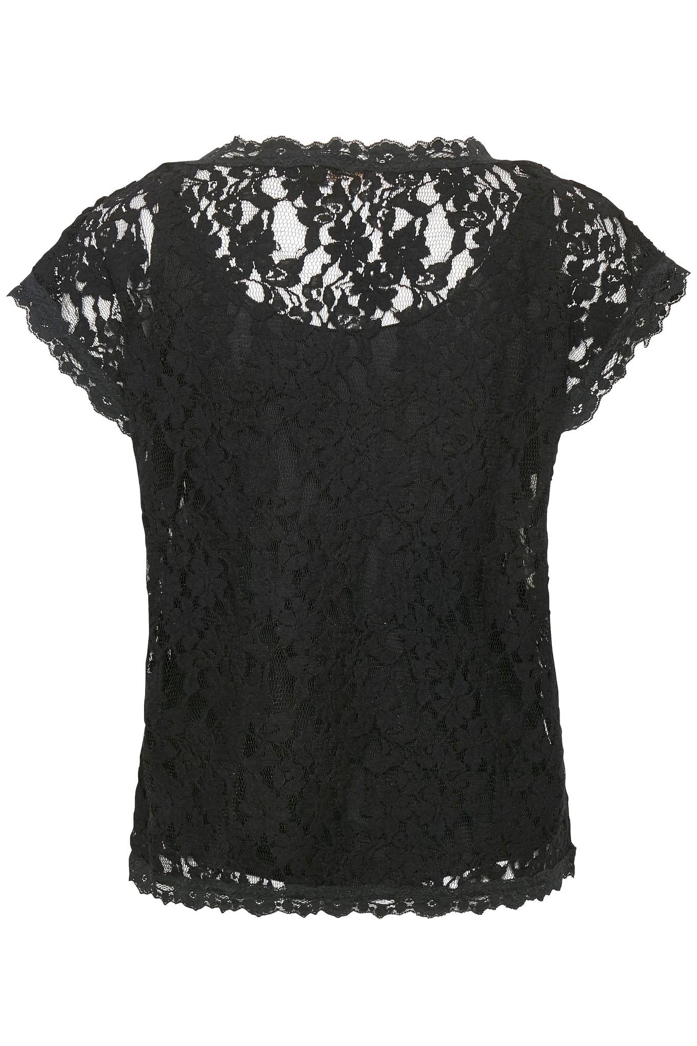 Top Vivi lace blouse pitch black-2