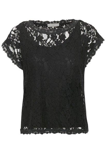Top Vivi lace blouse pitch black