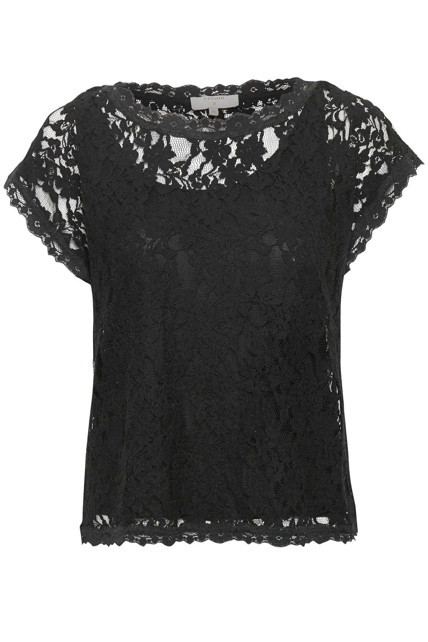 Top Vivi lace blouse pitch black-1