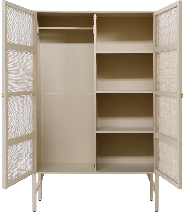 Kast retro webbing clothing cabinet sand-3