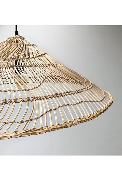 Hanglamp wicker pendant lamp triangle natural l