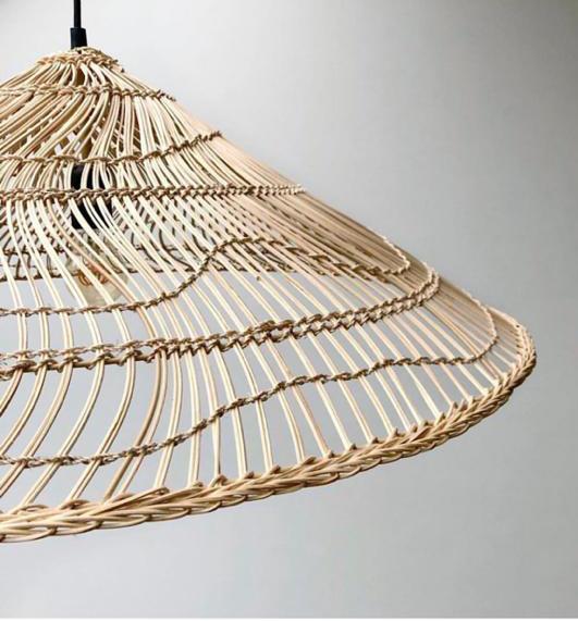 Hanglamp wicker pendant lamp triangle natural l-1
