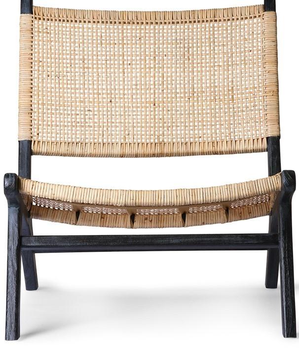 Stoel webbing lounge chair black/natural-3