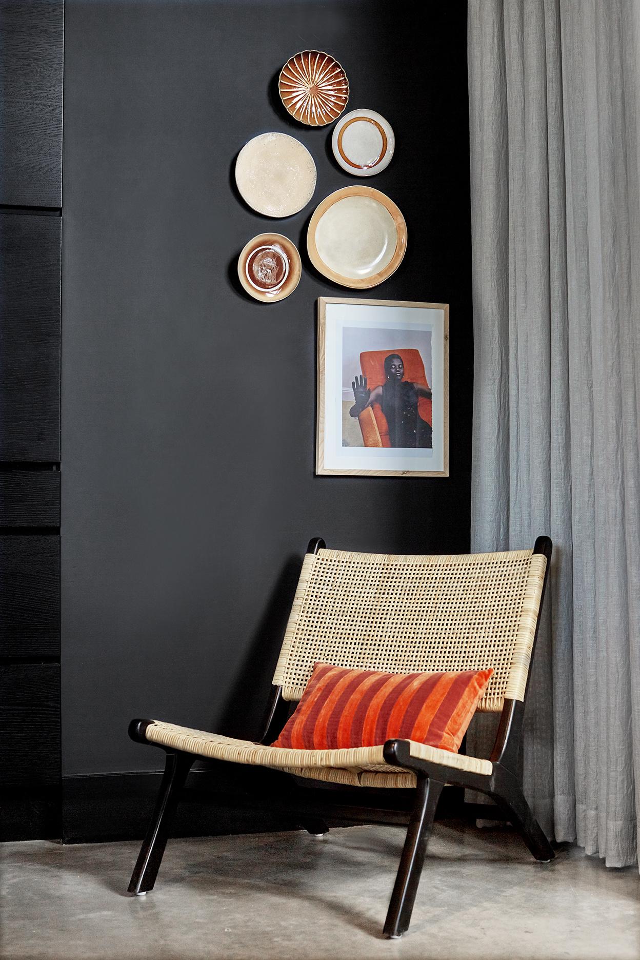 Stoel webbing lounge chair black/natural-4