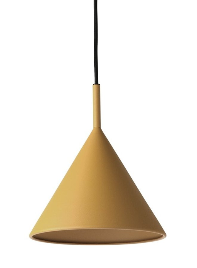 Hanglamp metal triangle pendant lamp m matt ochre
