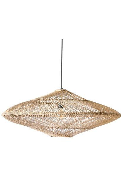 Hanglamp wicker pendant lamp oval natural
