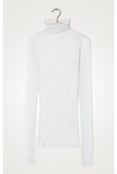 T-shirt Massachuesetss kol gris chine