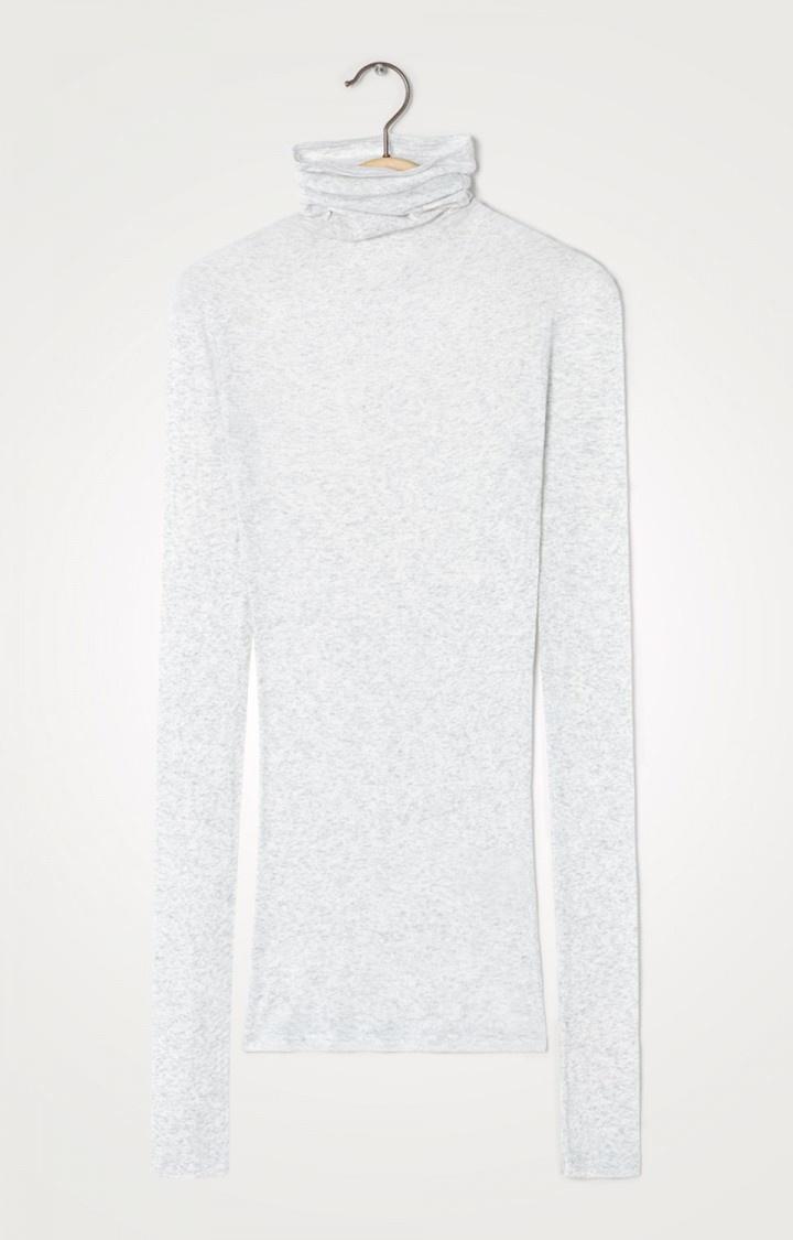 T-shirt Massachuesetss kol gris chine-1
