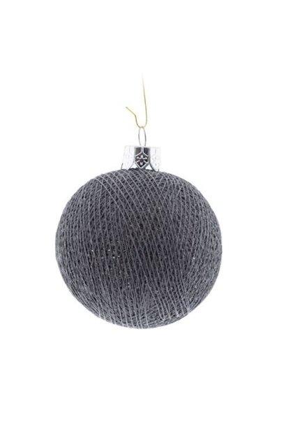 Kerstbal katoen mid grey