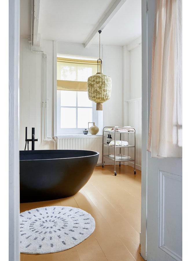 Badmat round bath mat swirl 120cm