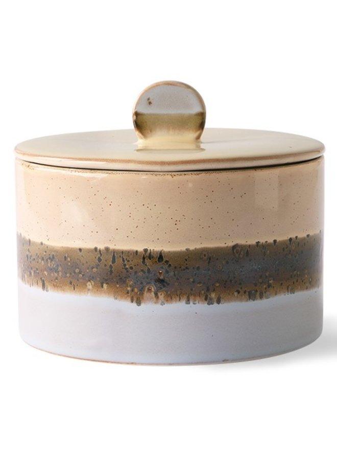 Koektrommel ceramic 70's cookie jar: lake