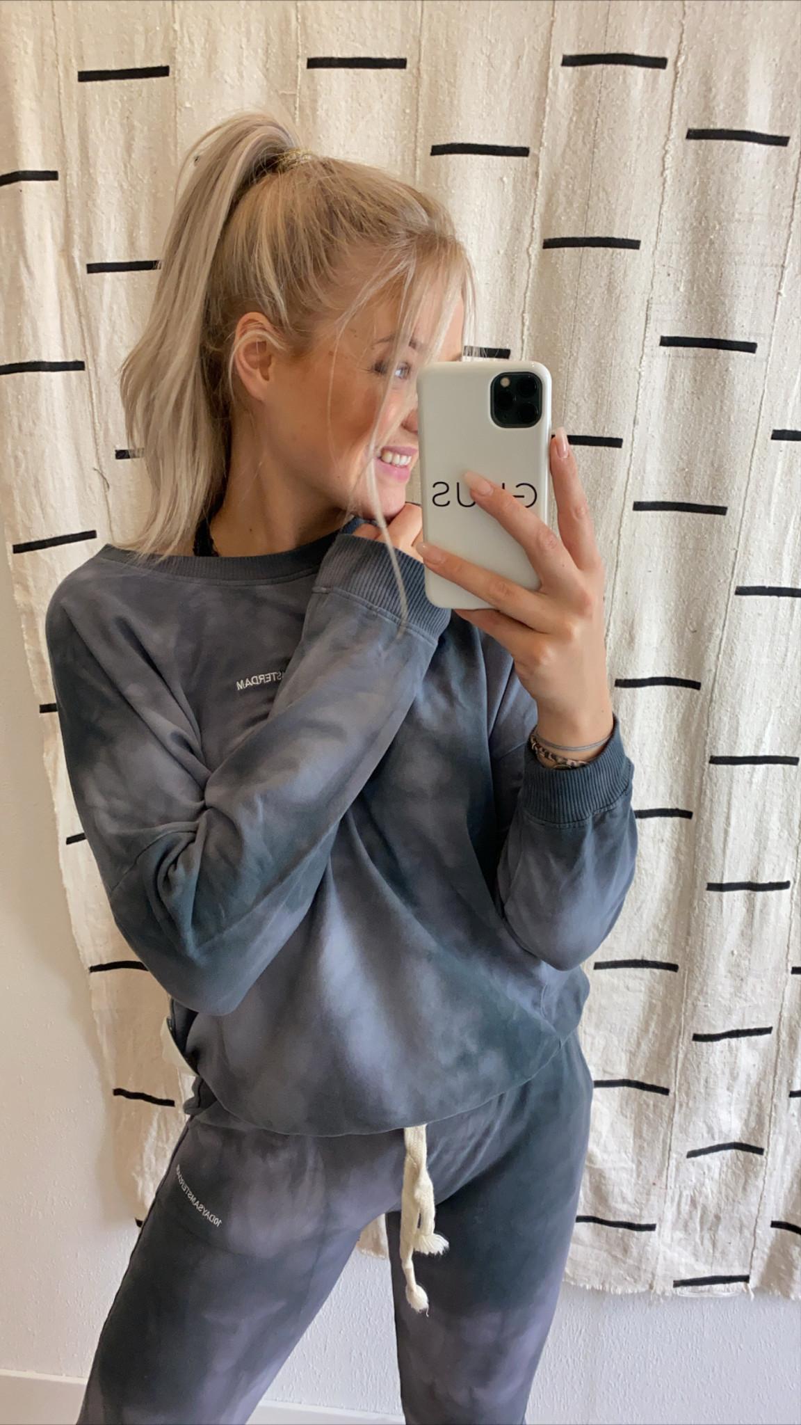 Trui oversized sweater tie dye grey-2