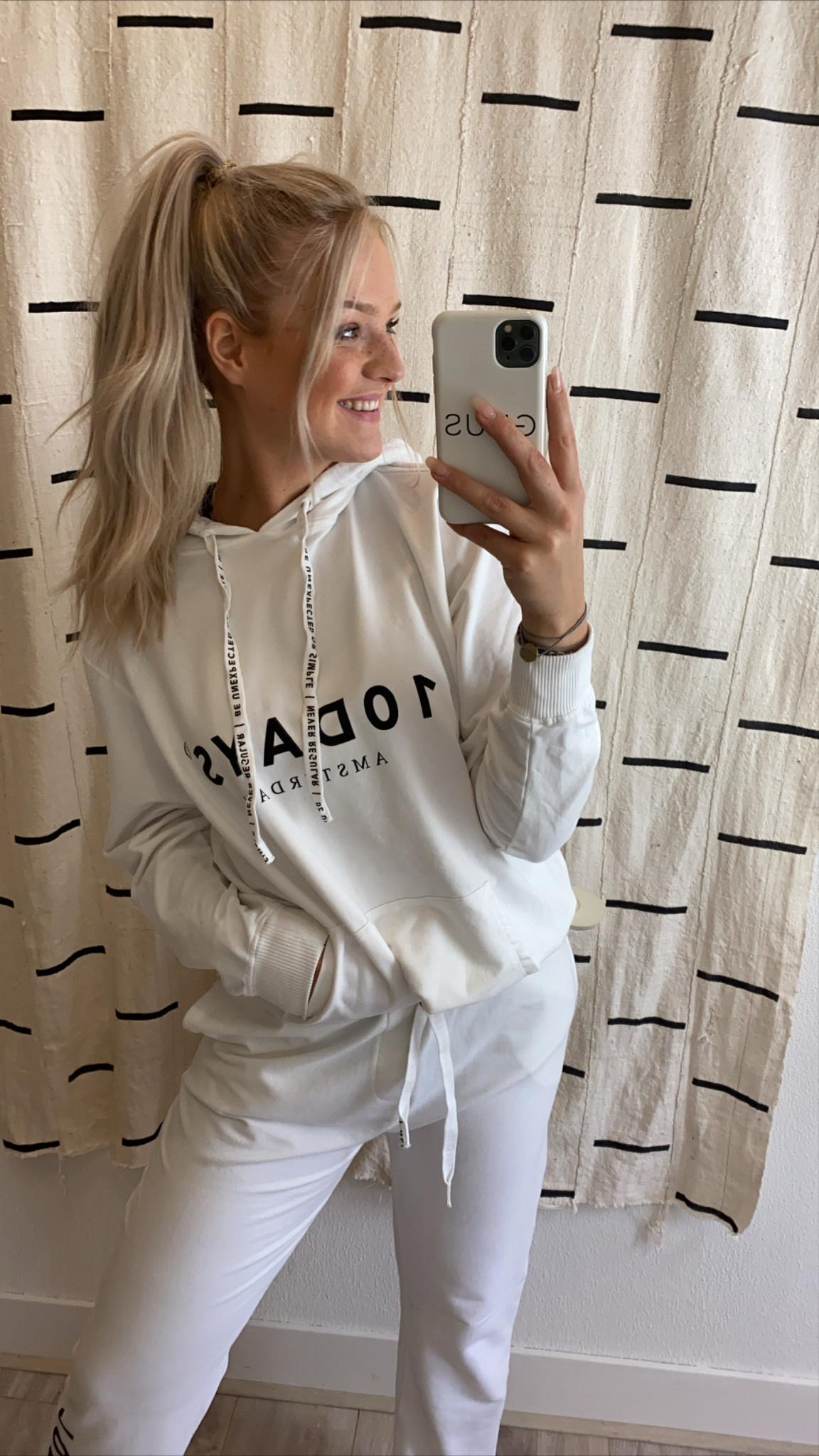 Trui the hoodie white NOOS-2