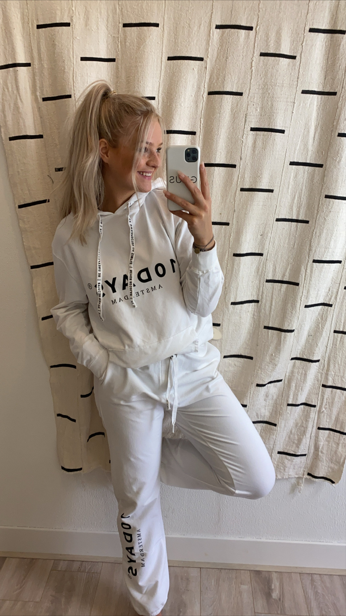 Broek the loose jogger white-3