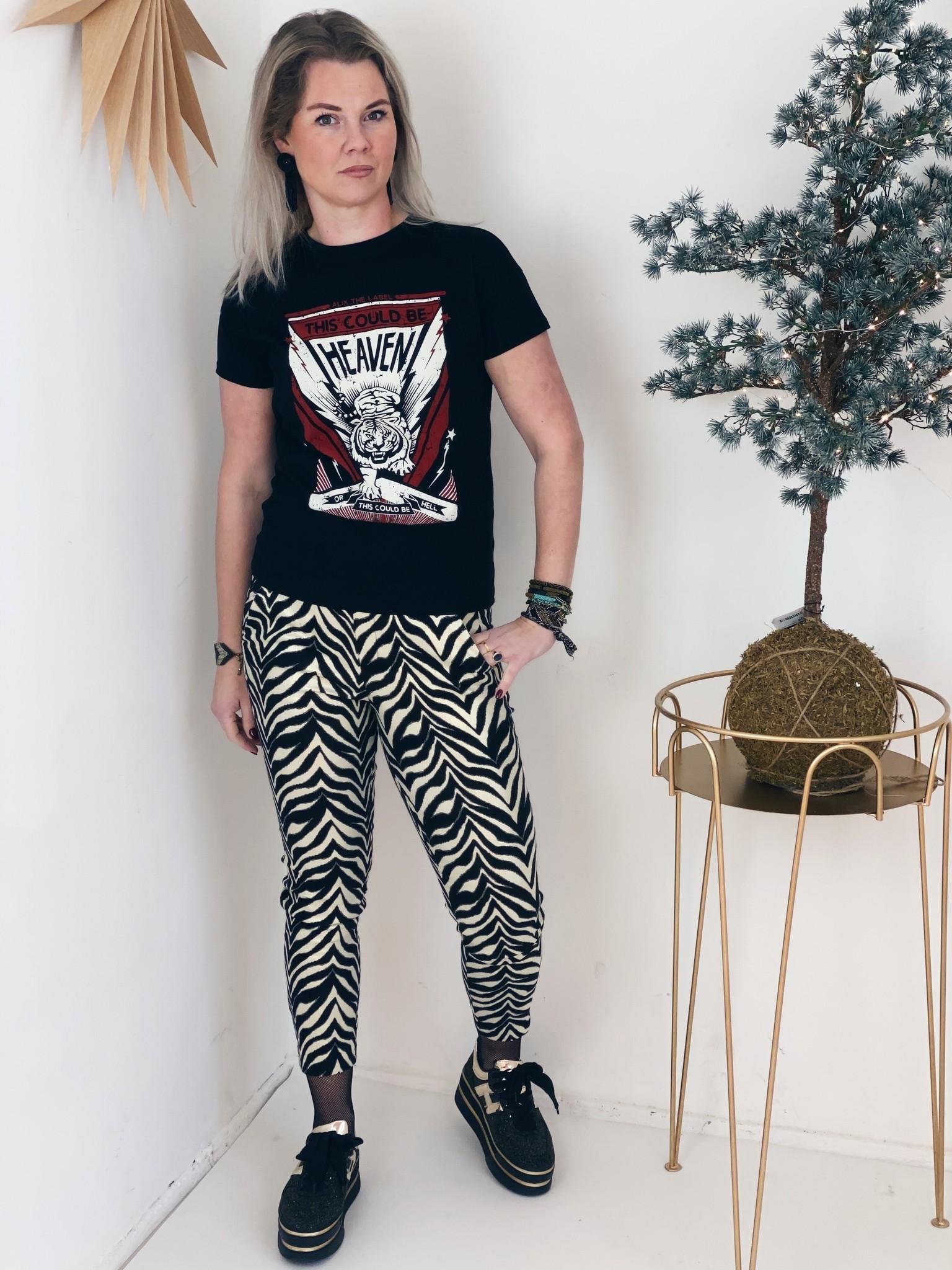T-shirt ladies knitted tiger black-2
