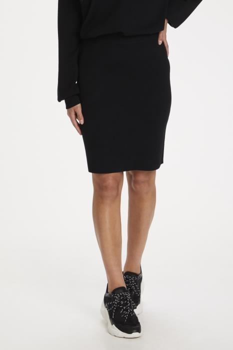 Rok KAkitlyn knit skirt black deep-3