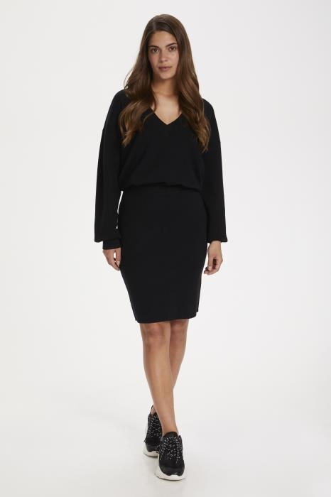 Rok KAkitlyn knit skirt black deep-6
