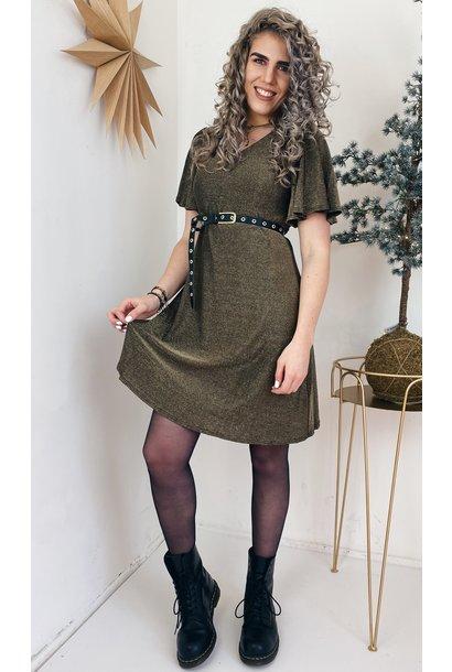 Jurk CRMinu short dress Gold Lurex