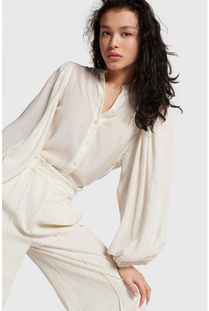 Blouse woven paisley big sleeve blouse