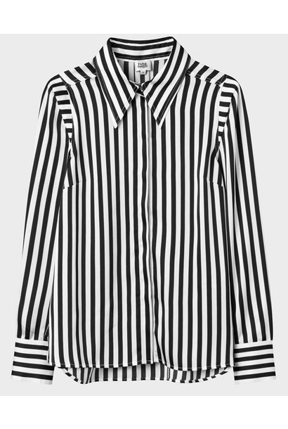 Blouse Peggy recycled poly graphic stripe