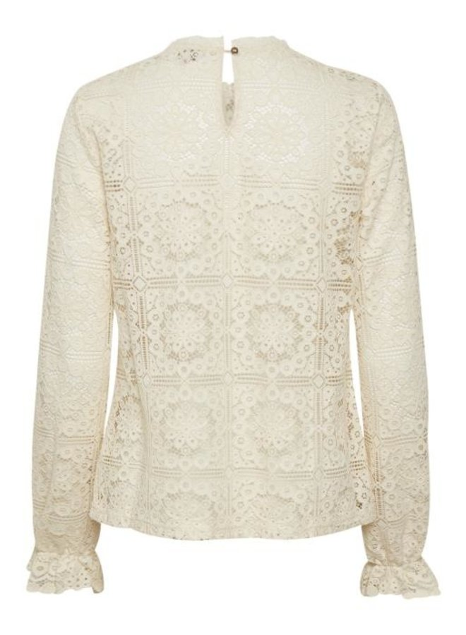 Blouse CRtiley lace eggnog