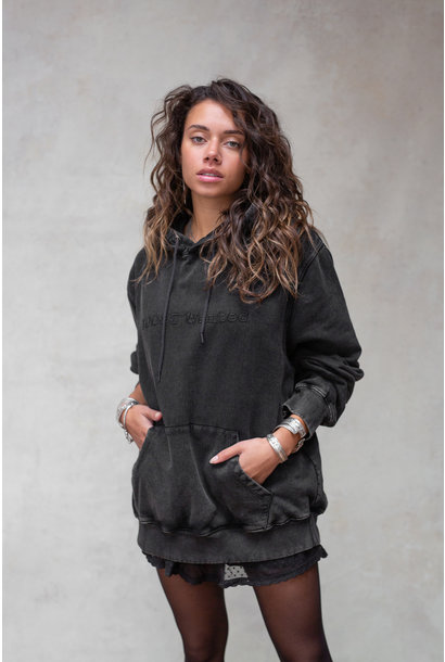 Sweater Passion hoodie washed black