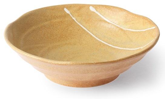 Kom kyoto ceramics japanese shallow bowl sand/white-1