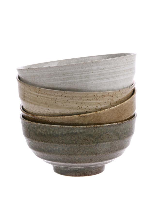 Kom kyoto ceramics: japanese noodle bowls light grey